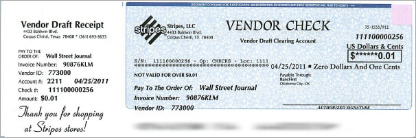 Vendor Checks Convenience Stores And Grocery Stores Can